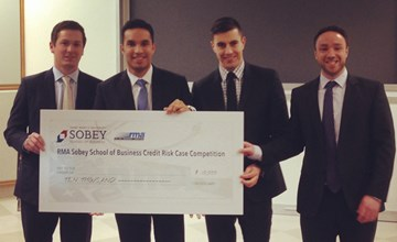 MBA team wins RMA Sobey Credit Risk Case Competition