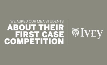 What's it like to be in your first case competition?