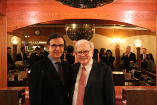 Mr. Buffett and Dr. Athannassakos pose for a photo