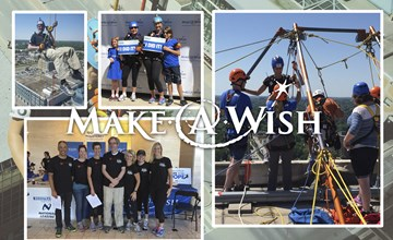 Team CommunityShift™ rappels to raise money for Make-A-Wish