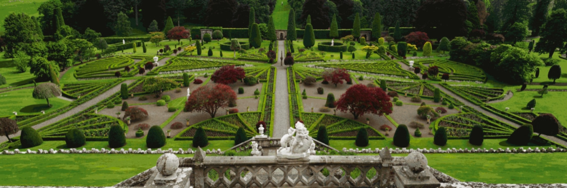 Formal Gardens of Drummond Castle, by Dorian FitzGerald