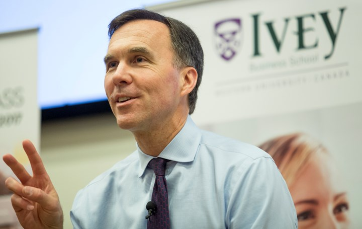 Empowering women in business: A discussion with Finance Minister Bill Morneau
