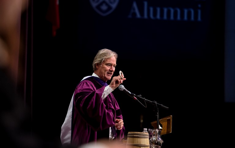 Michael McCain honoured at Ivey's Spring Convocation