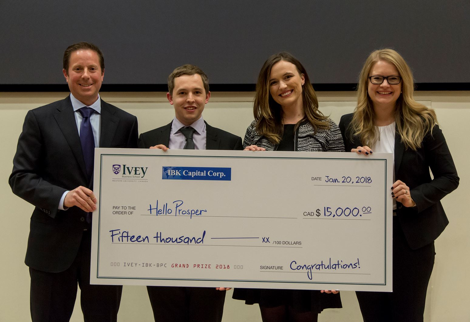 2018 IBK Capital - Ivey Business Plan Competition