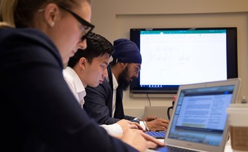 Diving in: MSc students complete internships in analytics