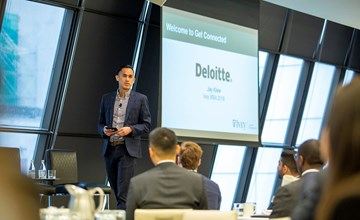 MBA students get career-focused at Get Connected recruiting event