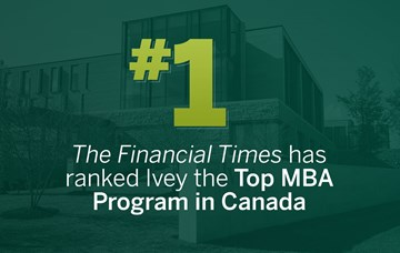 Ivey's MBA is top in Canada in Financial Times ranking