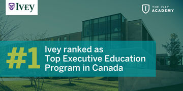 Financial Times ranks Ivey #1 in Canada for executive education