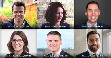 Ivey alumni named to Canada's Top 40 Under 40®