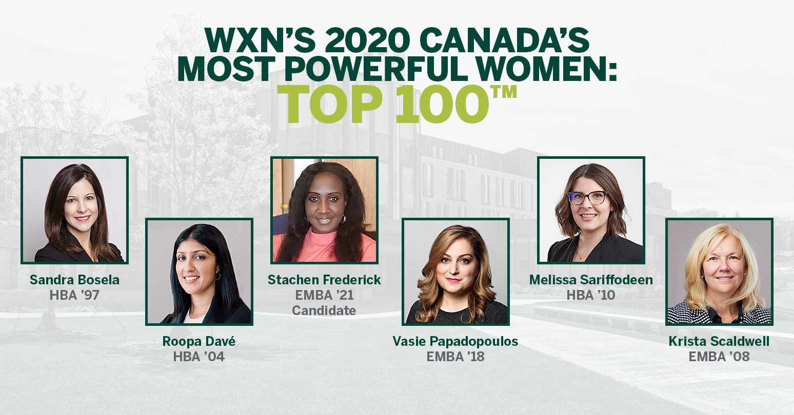 Ivey alumnae and current student recognized as Canada's Most Powerful Women