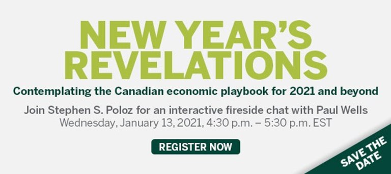 New Year's revelations: Contemplating the Canadian economic playbook for 2021 and beyond