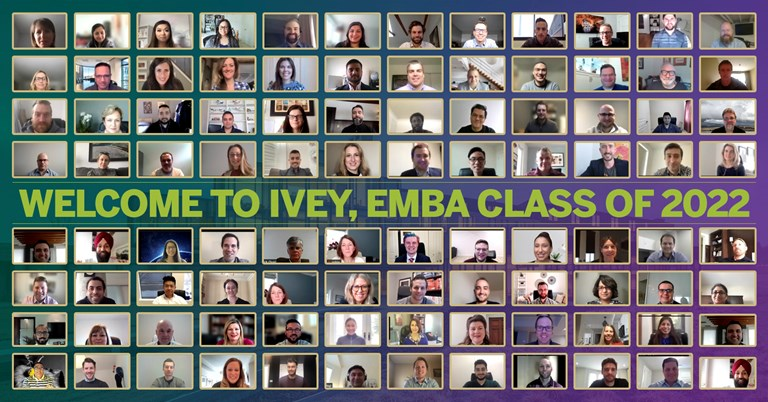 Welcome to the Executive MBA Class of 2022