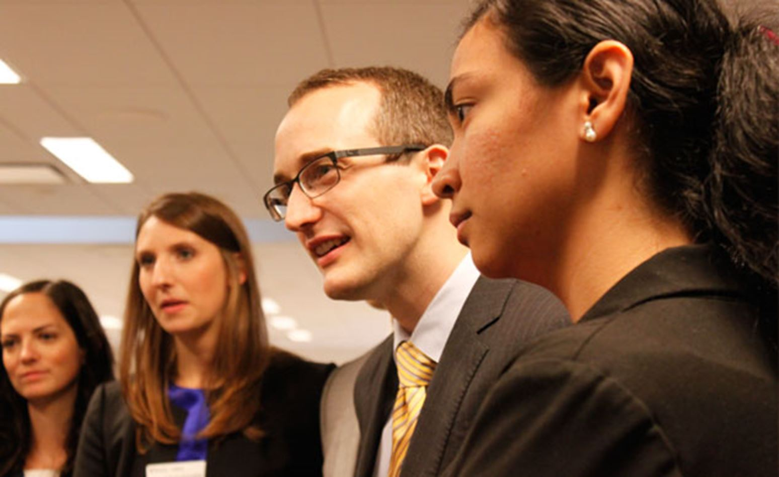 MBA students practice face-to-face networking in a digital world