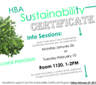 Event - HBA Sustainability Certificate Info Session