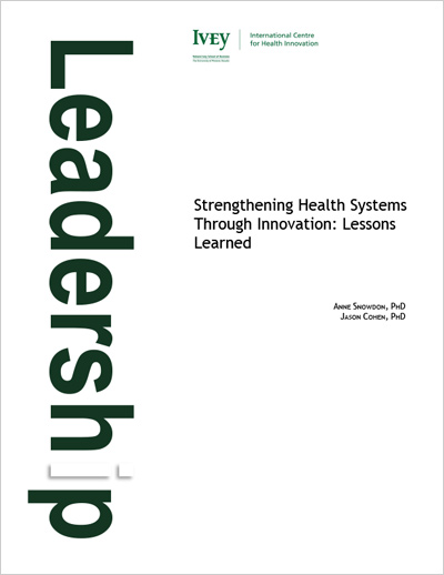 Strengthening Health Systems Through Innovation: Lessons Learned