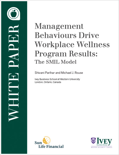 Management Behaviours Drive Workplace Wellness Program Results: The SMIL Model