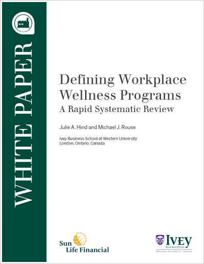 Defining Workplace Wellness Programs A Rapid Systematic Review