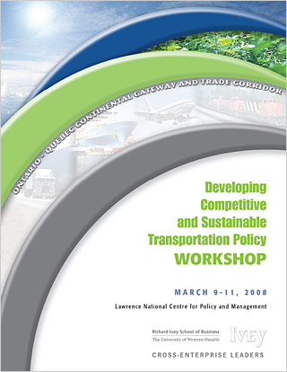 Developing Competitive and Sustainable Transportation Policy Workshop