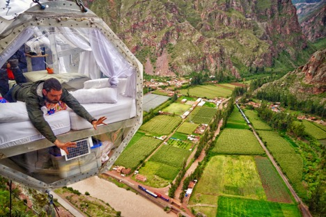 Hanging pods in the Sacred Valley of the Incas